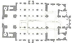 Plan de la collégiale Saint-Barthélemy Liège